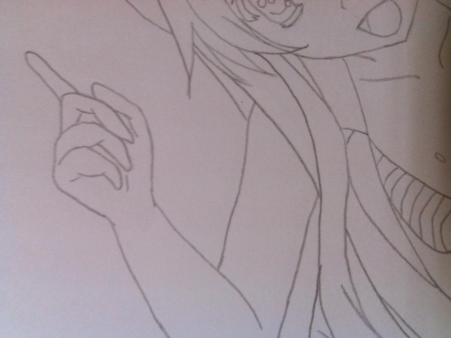 Рисуем аниме девушку в купальнике - шаг 10