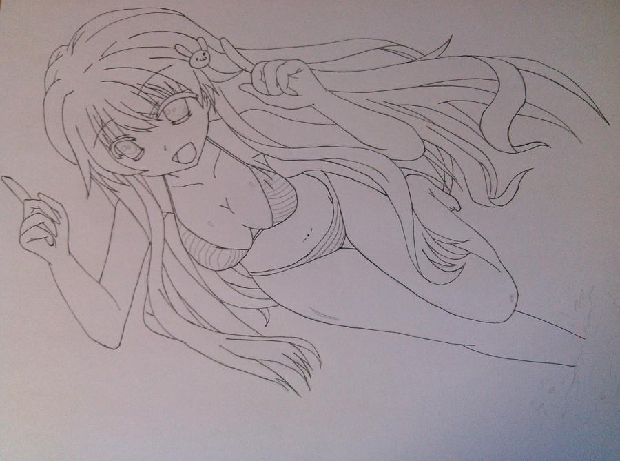 Рисуем аниме девушку в купальнике - шаг 11