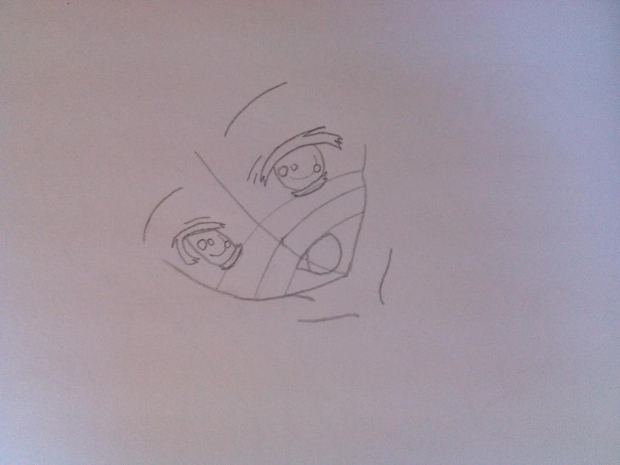 Рисуем аниме девушку в купальнике - шаг 2
