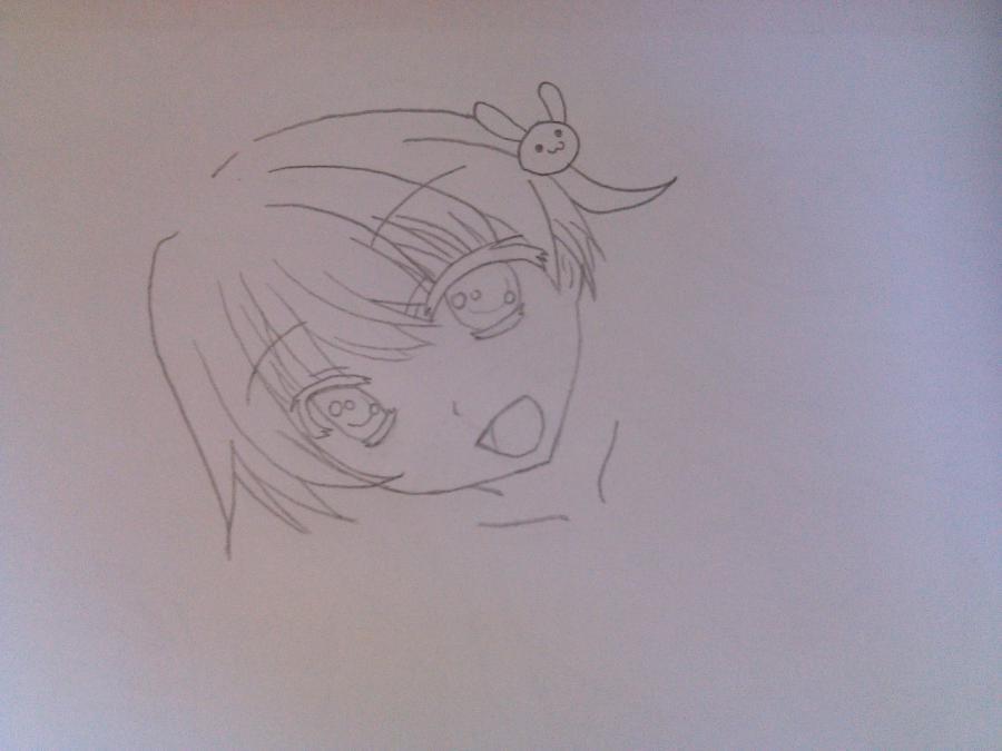 Рисуем аниме девушку в купальнике - шаг 3