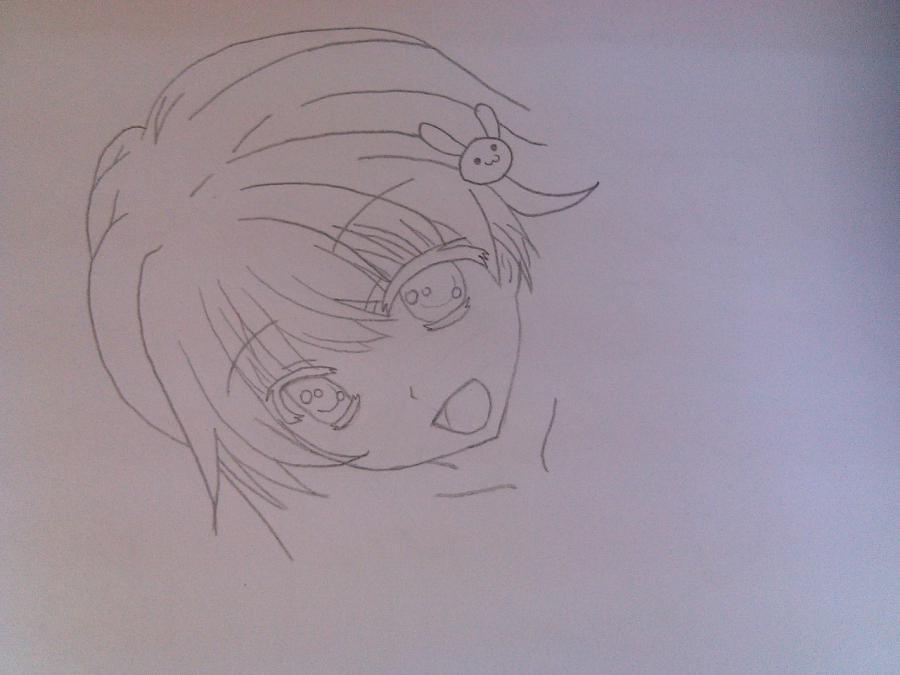 Рисуем аниме девушку в купальнике - шаг 4