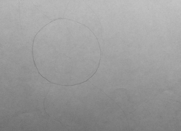 Рисуем аниме лису карандашами - шаг 1