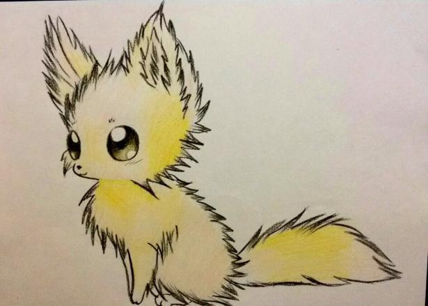 Рисуем аниме лису карандашами - шаг 8