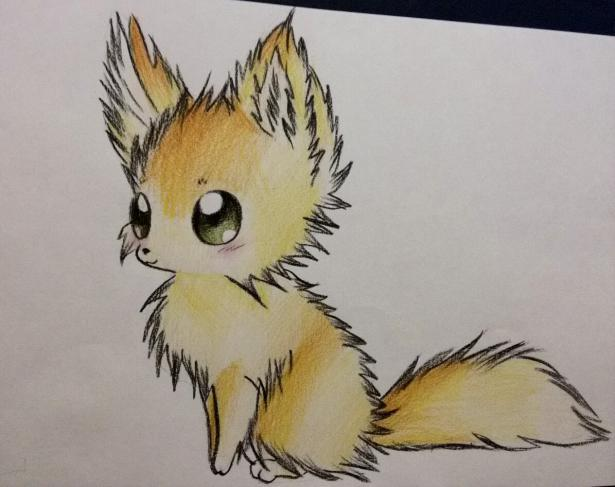 Рисуем аниме лису карандашами - шаг 9