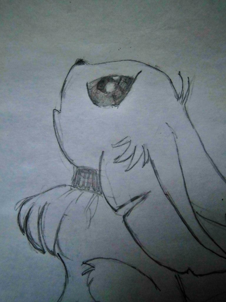 Рисуем аниме лисёнок с бабочкой на носу - шаг 3