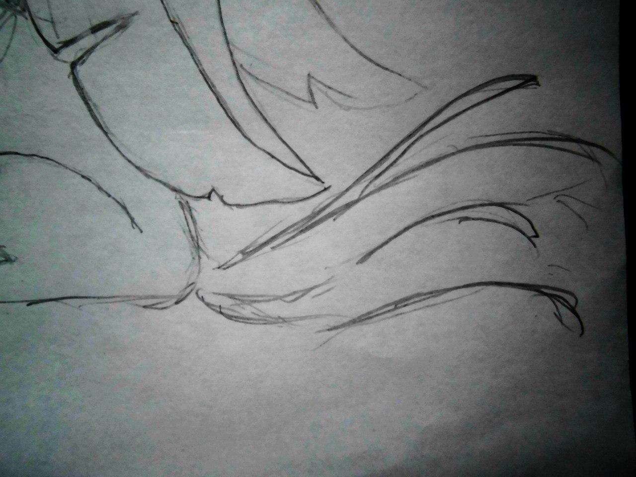 Рисуем аниме лисёнок с бабочкой на носу - шаг 4