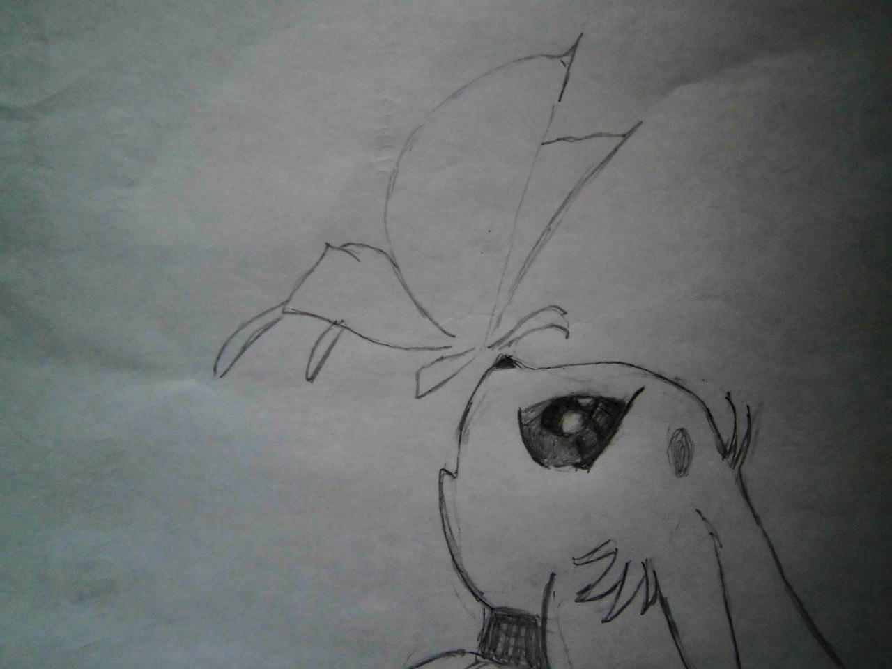 Рисуем аниме лисёнок с бабочкой на носу - шаг 5