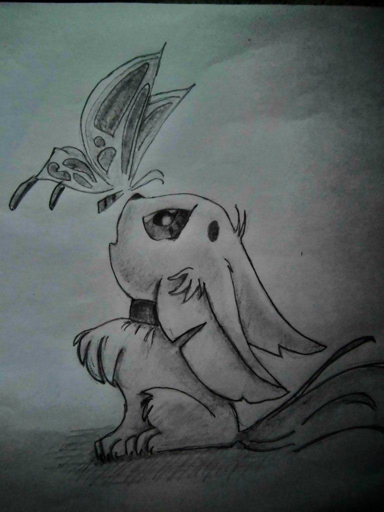 Рисуем аниме лисёнок с бабочкой на носу - шаг 6
