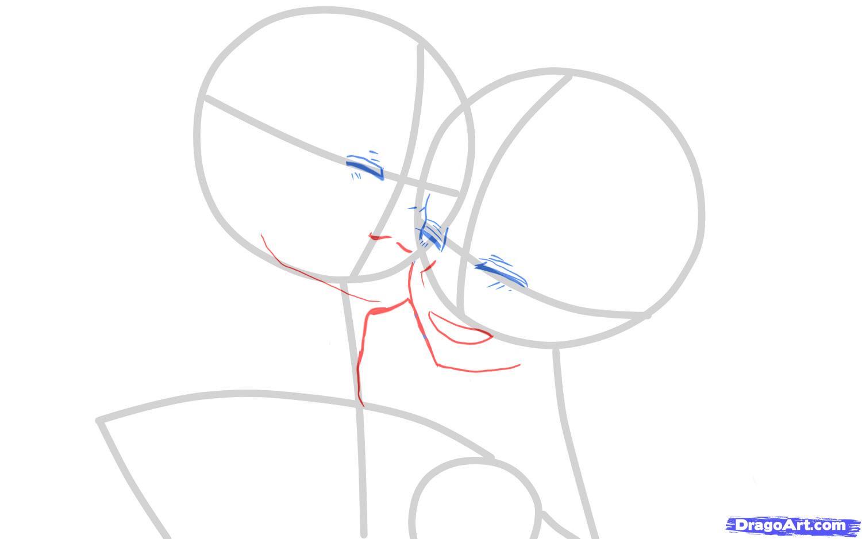 Рисуем Лен и Рин  для начинающих - шаг 3
