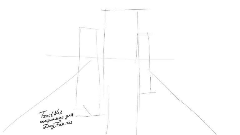Рисуем аниме школьницу - шаг 1