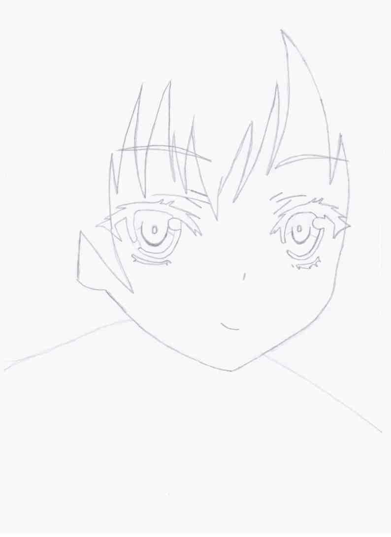 Рисуем девушку из аниме Boku wa Tomodachi ga Sukunai
