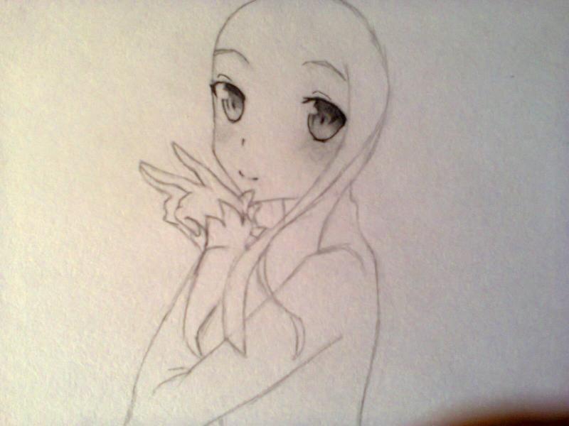 Рисуем красивую Асуну - шаг 6