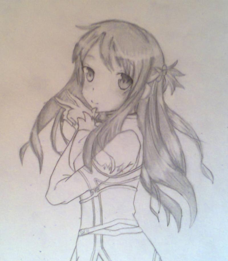 Рисуем красивую Асуну - шаг 8