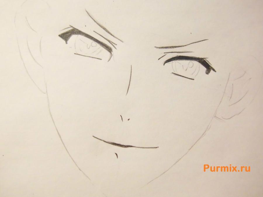 Рисуем Аято Сакамаки из аниме Дьявольские возлюбленные - шаг 2