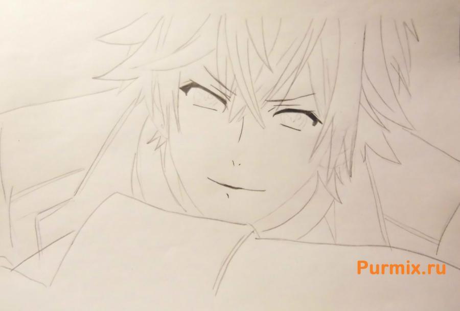 Рисуем Аято Сакамаки из аниме Дьявольские возлюбленные - шаг 4