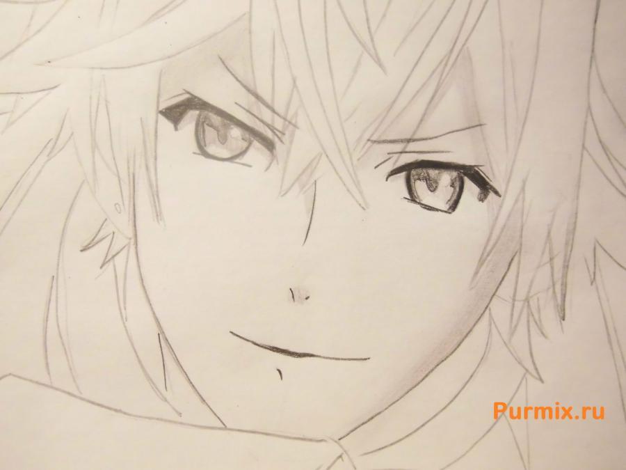 Рисуем Аято Сакамаки из аниме Дьявольские возлюбленные - шаг 5