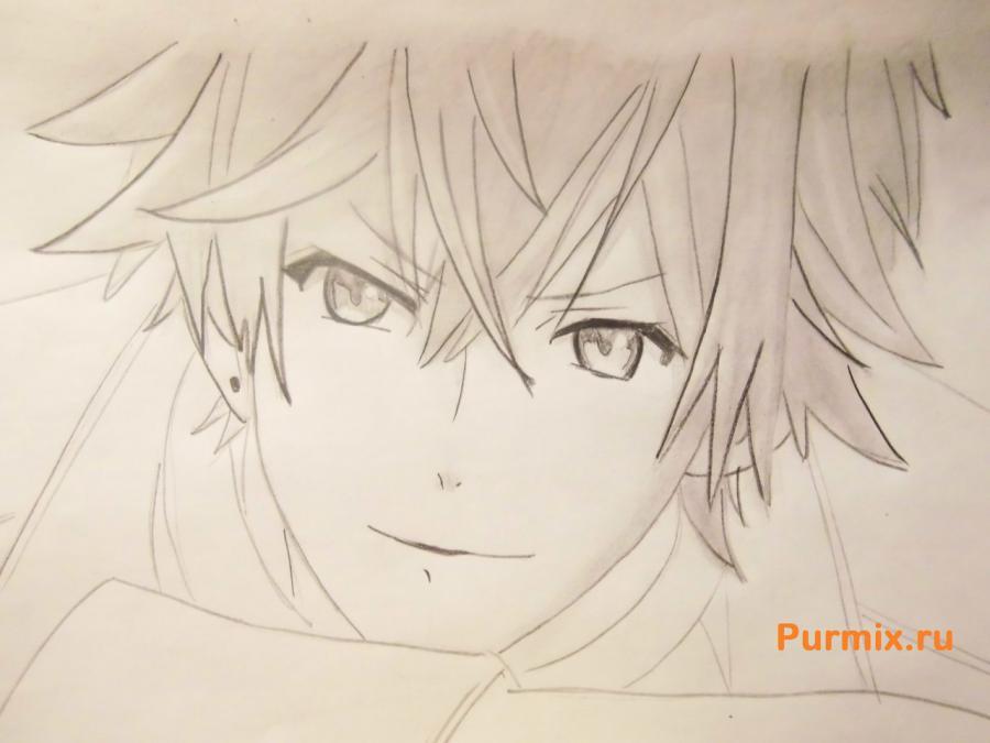 Рисуем Аято Сакамаки из аниме Дьявольские возлюбленные - шаг 6