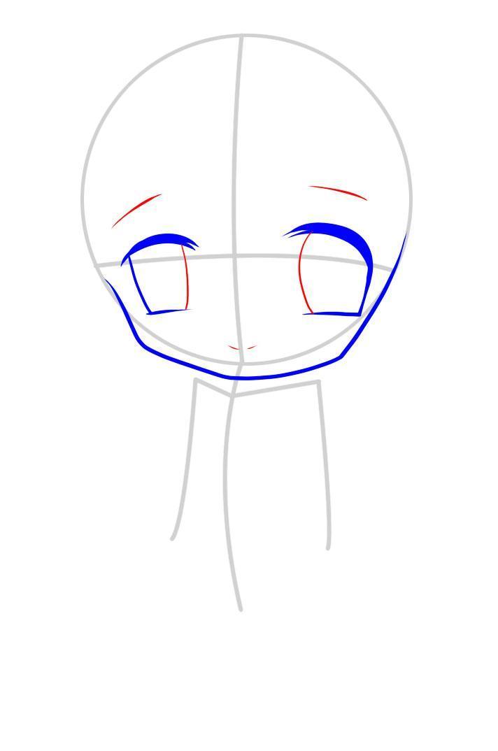 kak_narisovat_chibi_devochku_karandashom_pojetapno-4 Как нарисовать милую чиби девочку карандашом поэтапно