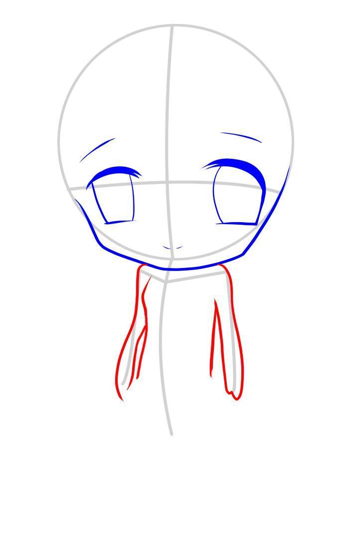 kak_narisovat_chibi_devochku_karandashom_pojetapno-5 Как нарисовать милую чиби девочку карандашом поэтапно