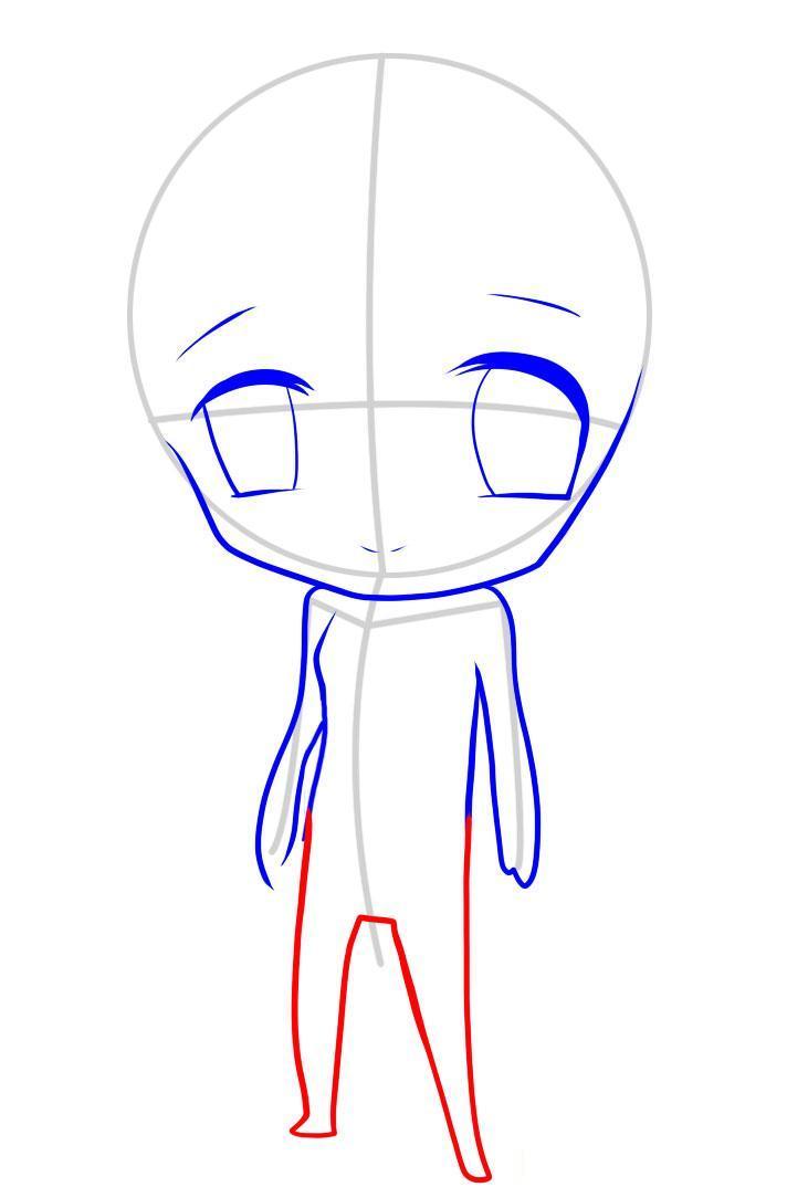 kak_narisovat_chibi_devochku_karandashom_pojetapno-6 Как нарисовать милую чиби девочку карандашом поэтапно