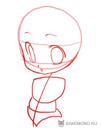 Рисуем девочку-кролика в стиле чиби в полный рост - шаг 6
