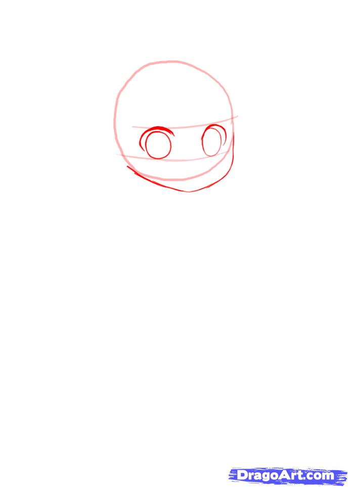 Рисуем девочку в костюме панды в стиле Чиби