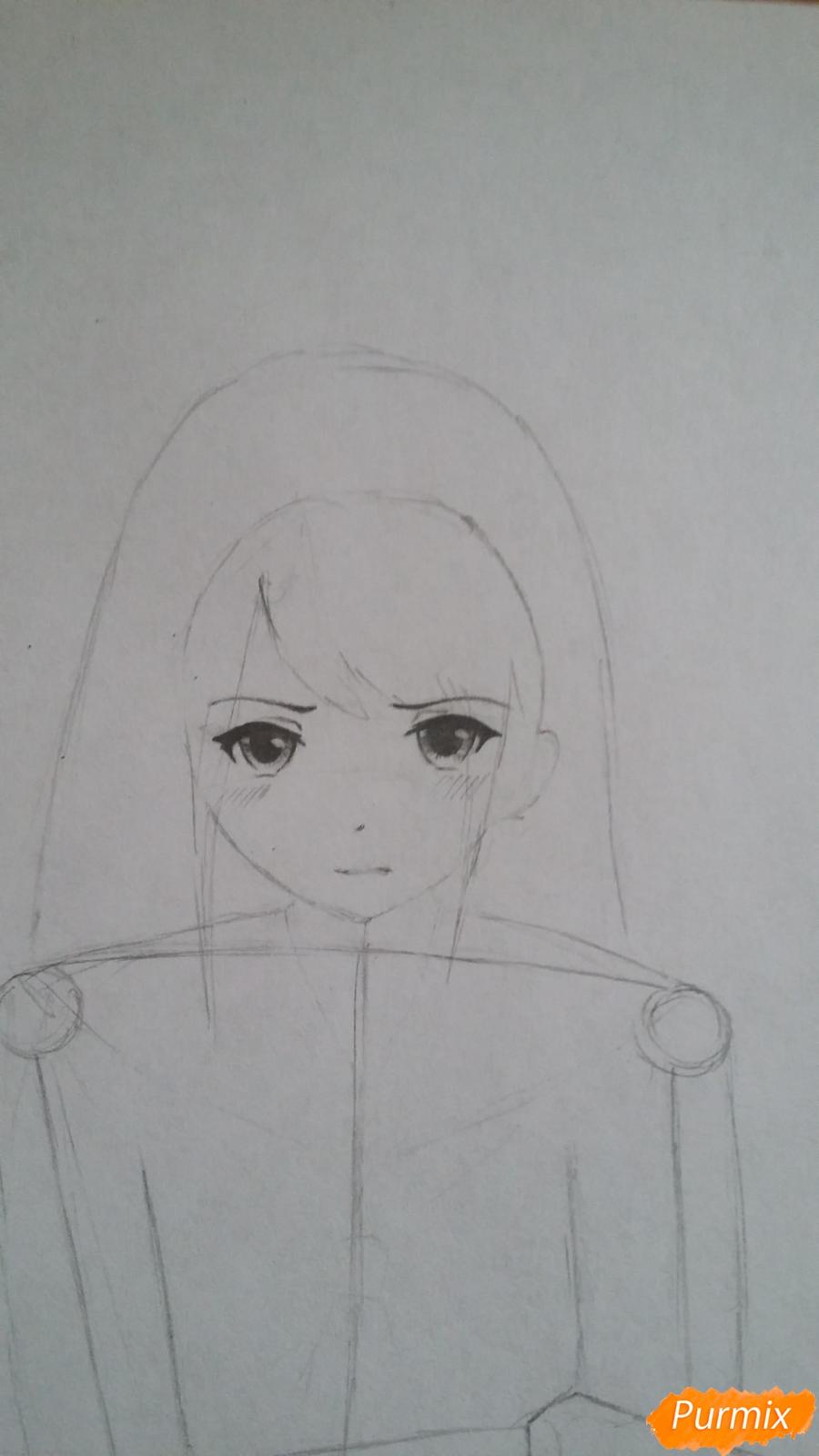 Рисуем девушку с катаной в аниме стиле - шаг 3