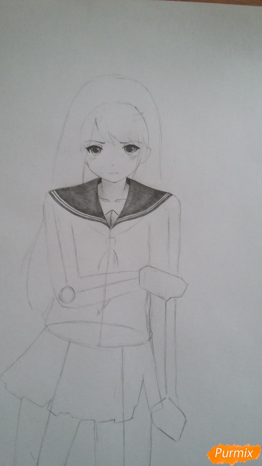 Рисуем девушку с катаной в аниме стиле - шаг 5
