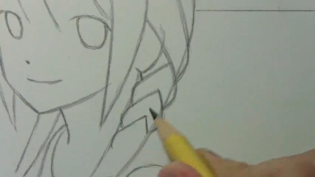 Рисуем аниме девушку с косами