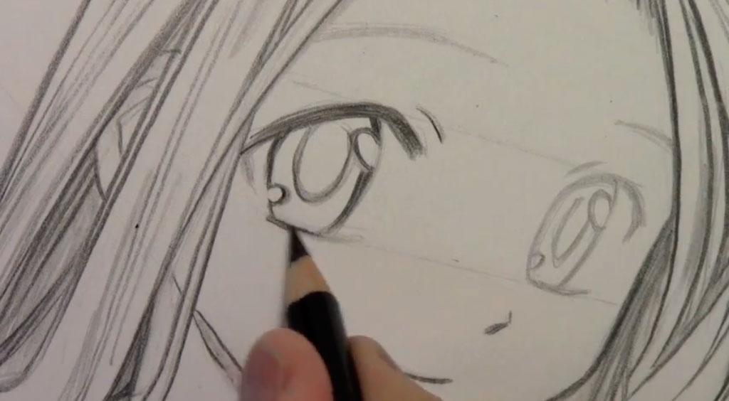 Рисуем девушку с реалистичными глаза в стиле манга - шаг 6