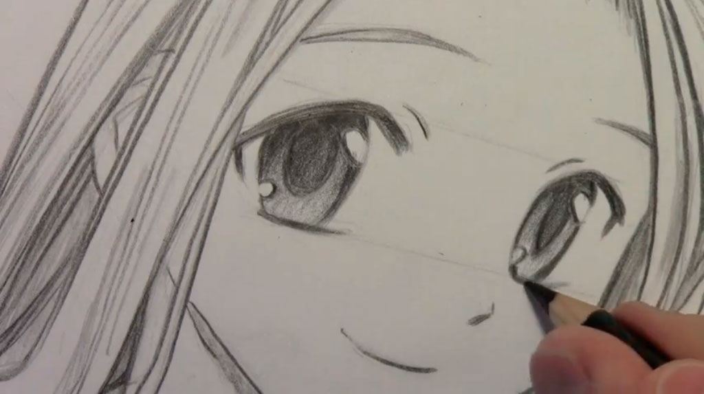 Рисуем девушку с реалистичными глаза в стиле манга - шаг 7