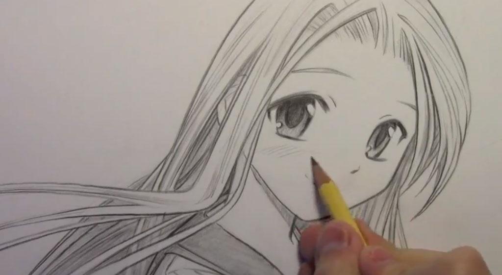 Рисуем девушку с реалистичными глаза в стиле манга - шаг 8