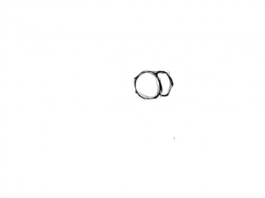 Рисуем девушку в купальнике в стиле аниме для начинающих - шаг 1
