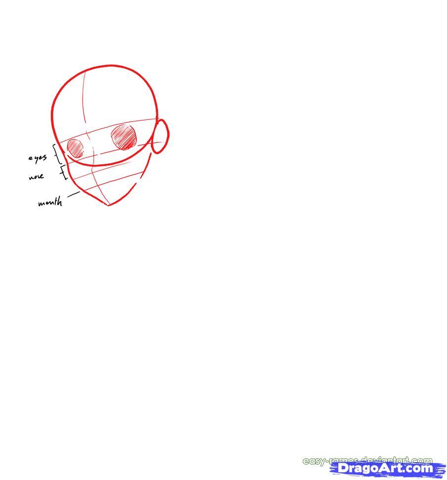Рисуем девушку в стиле манга - шаг 1