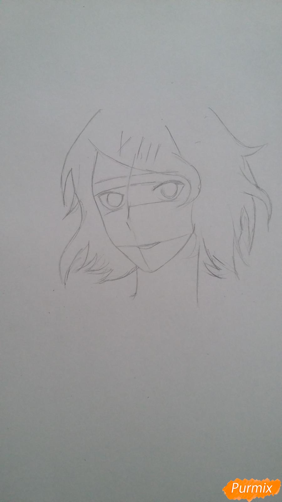 Рисуем портрет Дзюдзо Судзую - шаг 2