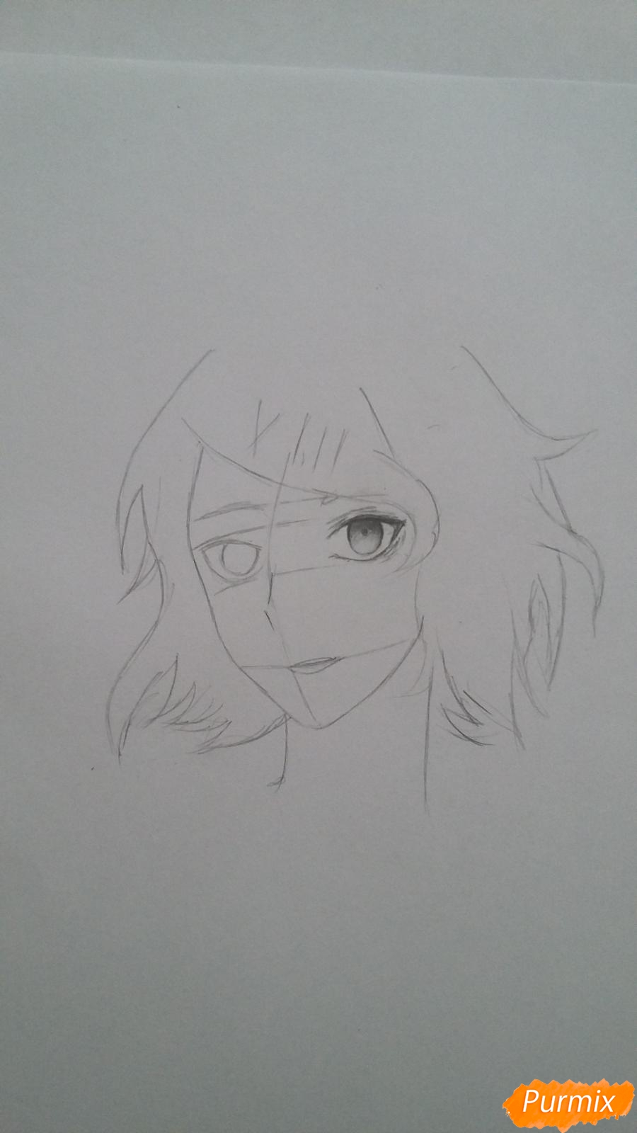 Рисуем портрет Дзюдзо Судзую - шаг 3