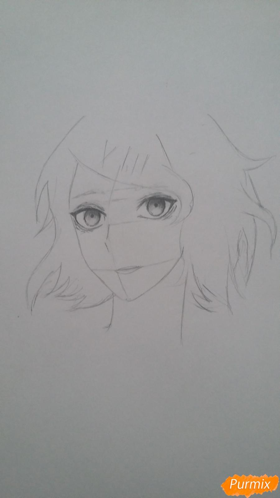 Рисуем портрет Дзюдзо Судзую - шаг 4