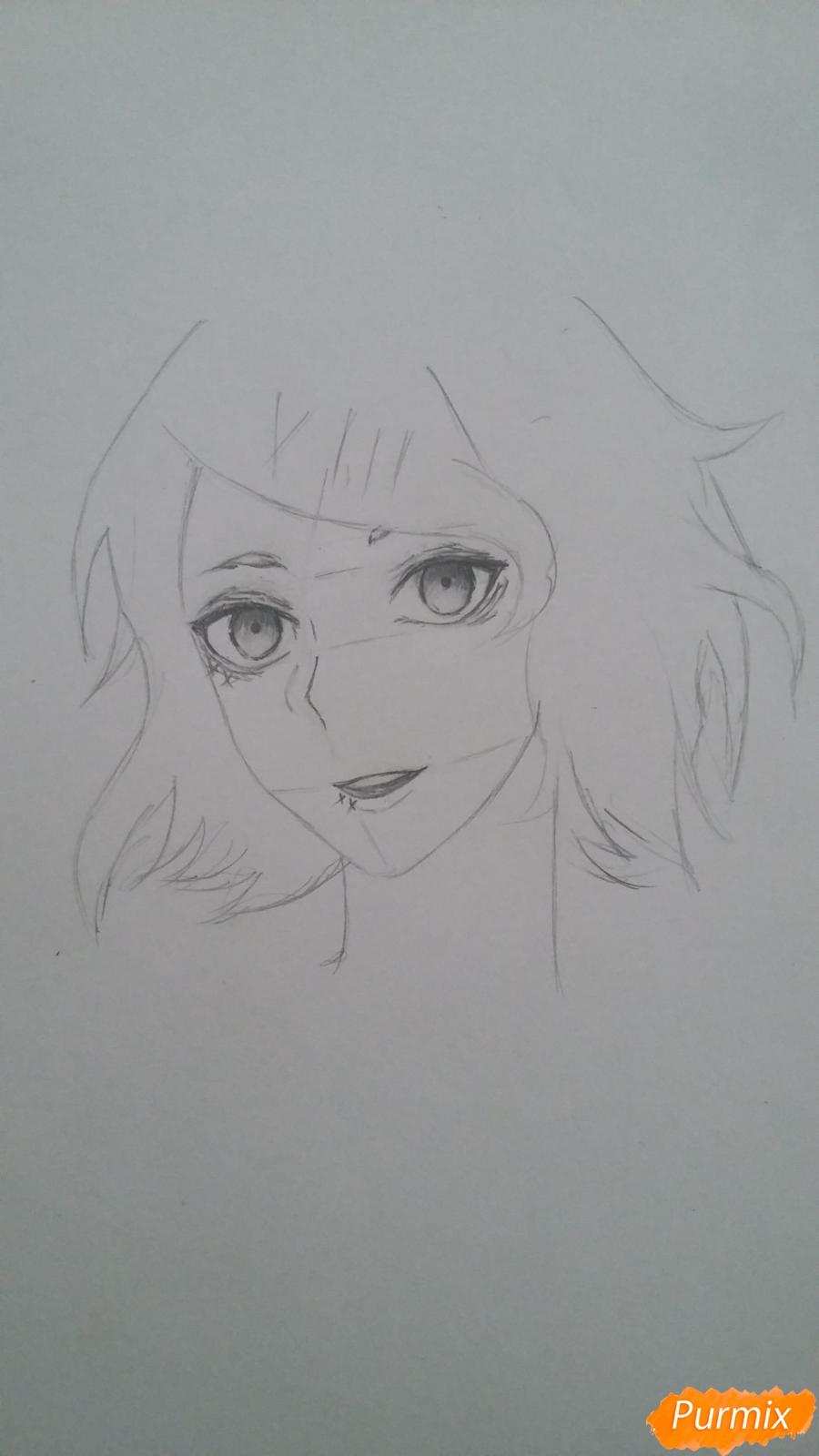Рисуем портрет Дзюдзо Судзую - шаг 5