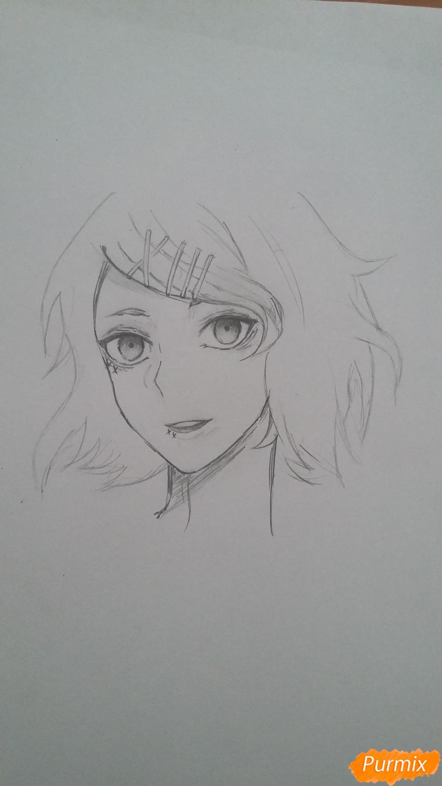 Рисуем портрет Дзюдзо Судзую - шаг 6