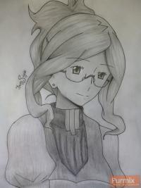 Генриетту из аниме Лог Горизонт простым карандашом