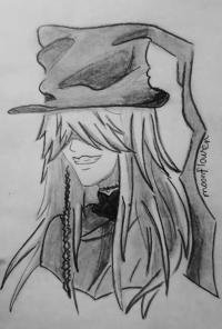 Фото гробовщика из Темный дворецкий карандашом