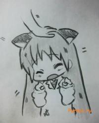 Хакасэ Синономэ в стиле неко из аниме Мелочи жизни