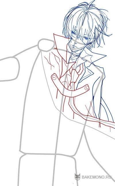 Рисуем Хибари Кёя из аниме Reborn