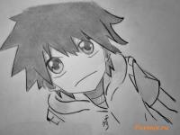 Фото Хибия Амамия из аниме Призрачный проект карандашом