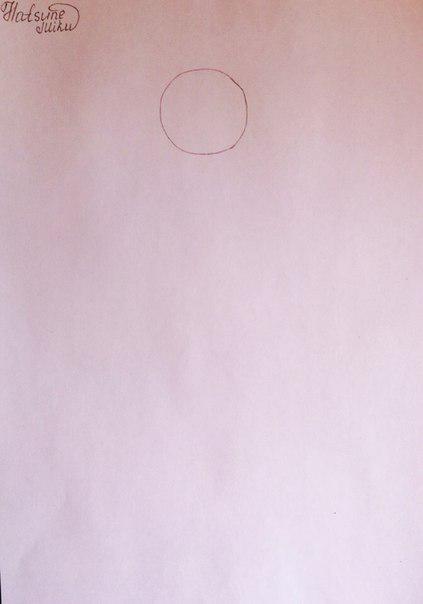 Рисуем и раскрасить аниме девушку-кролика караендашами - шаг 1