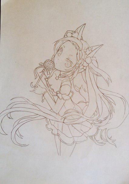 Рисуем и раскрасить аниме девушку-лисичку - шаг 10