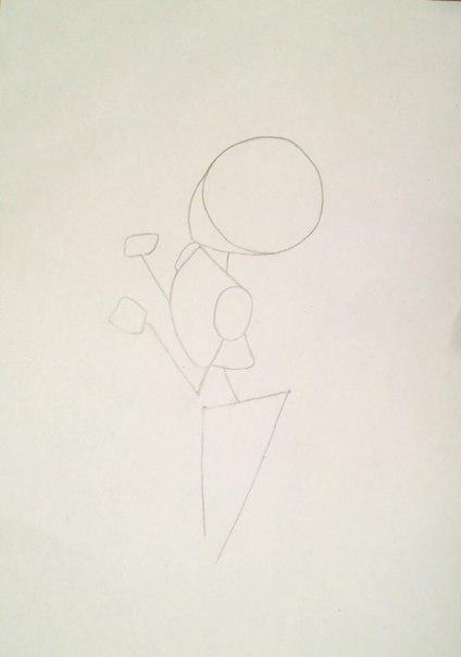 Рисуем и раскрасить аниме девушку-лисичку - шаг 3
