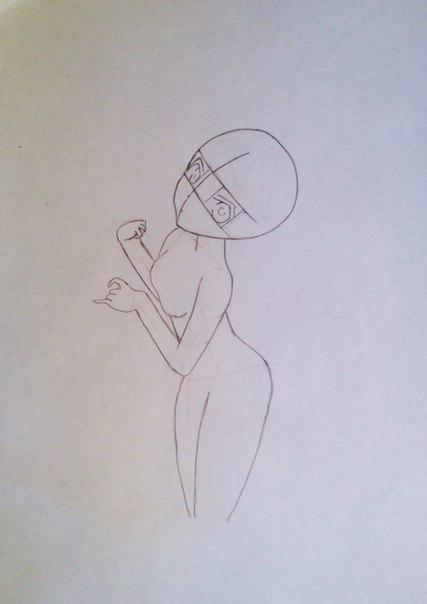 Рисуем и раскрасить аниме девушку-лисичку - шаг 6