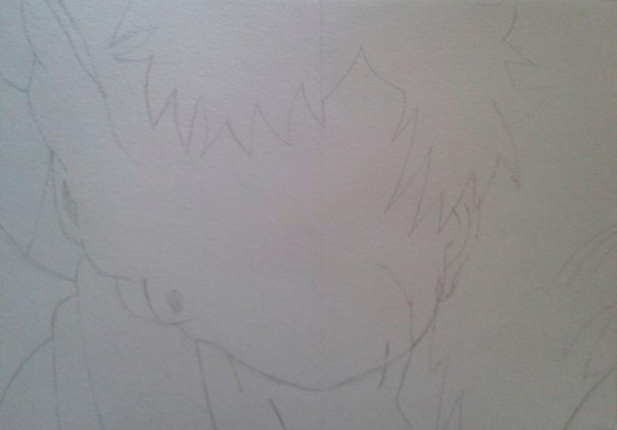 Рисуем и раскрасить Гаара - шаг 1
