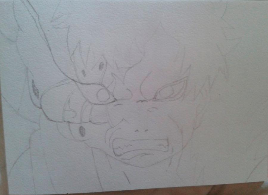 Рисуем и раскрасить Гаара - шаг 2
